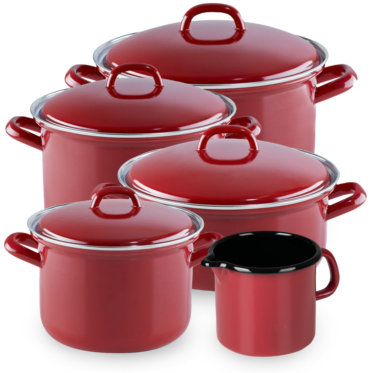 Riess Topfset 5-teilig RED