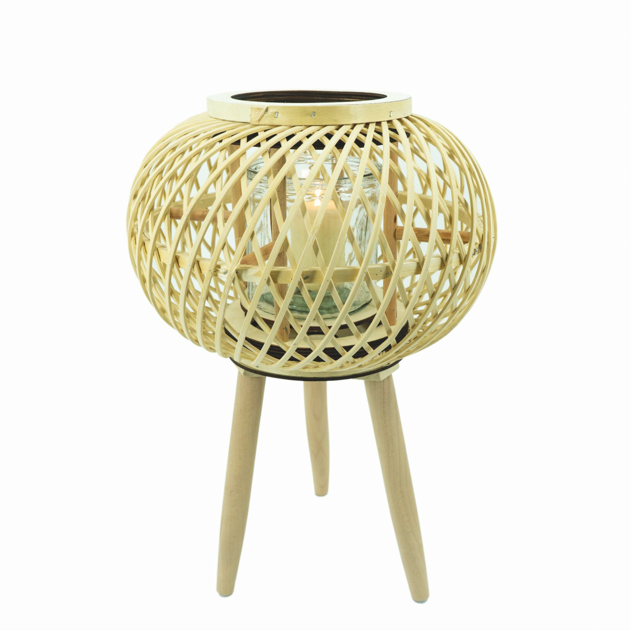 HTI-Living Windlicht Rattan
