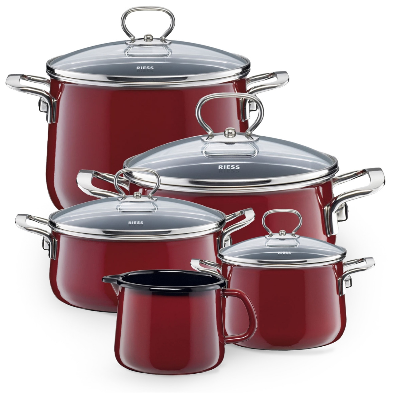 Riess Topfset Familienset 5-teilig ROSSO
