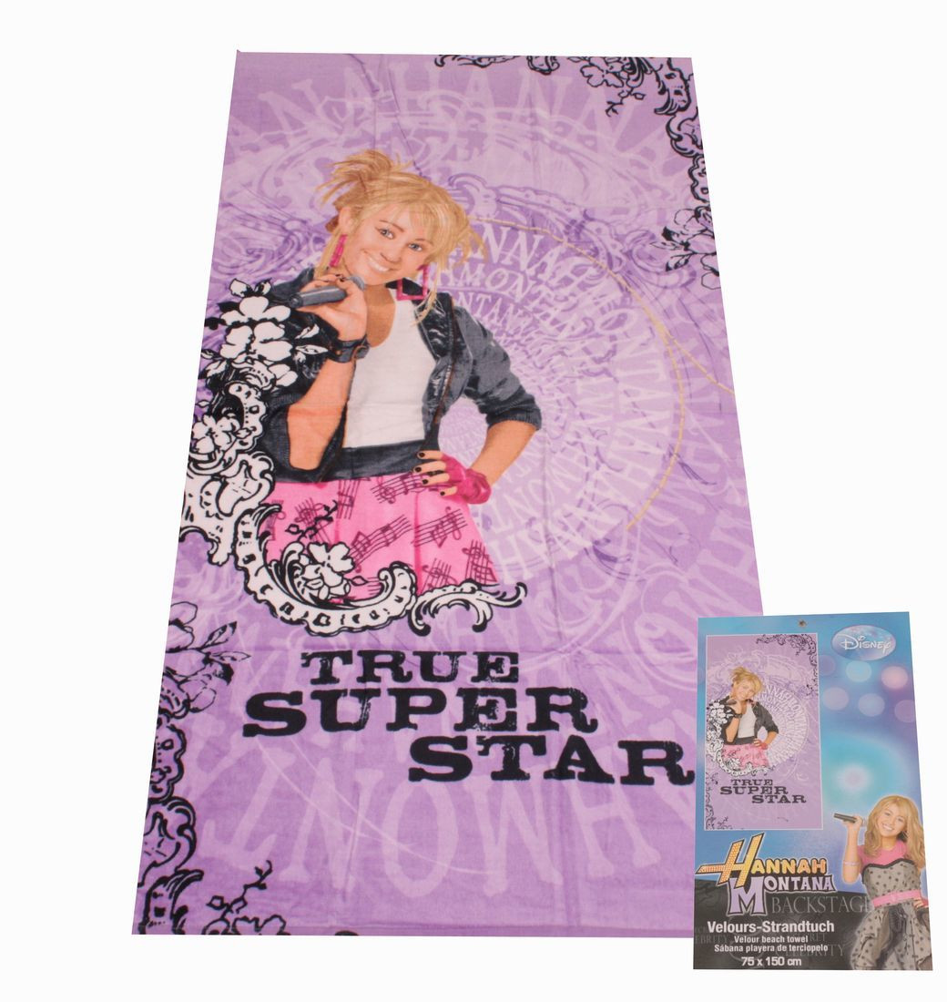 HTI-Living True Superstar Strandtuch Hannah Montana