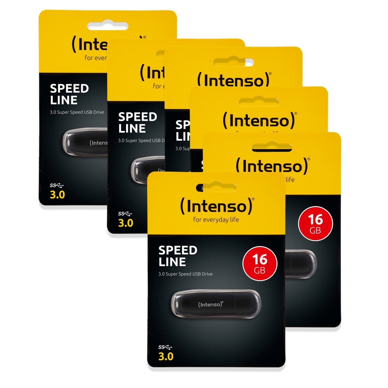 Intenso USB Stick 16 GB 6er Set