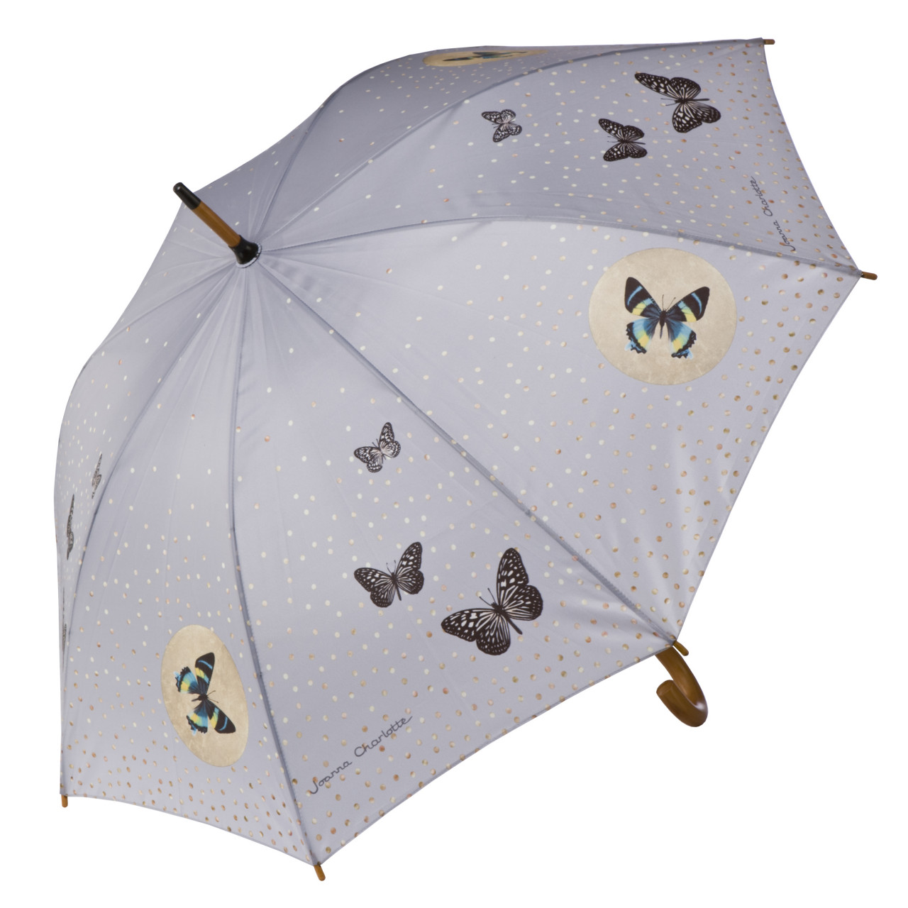 Goebel Artis Orbis Grey Butterflies Stockschirm
